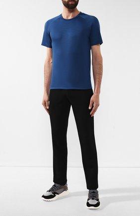Мужская шерстяная футболка Z ZEGNA синего цвета, арт. VT390/ZZT653   Фото 2
