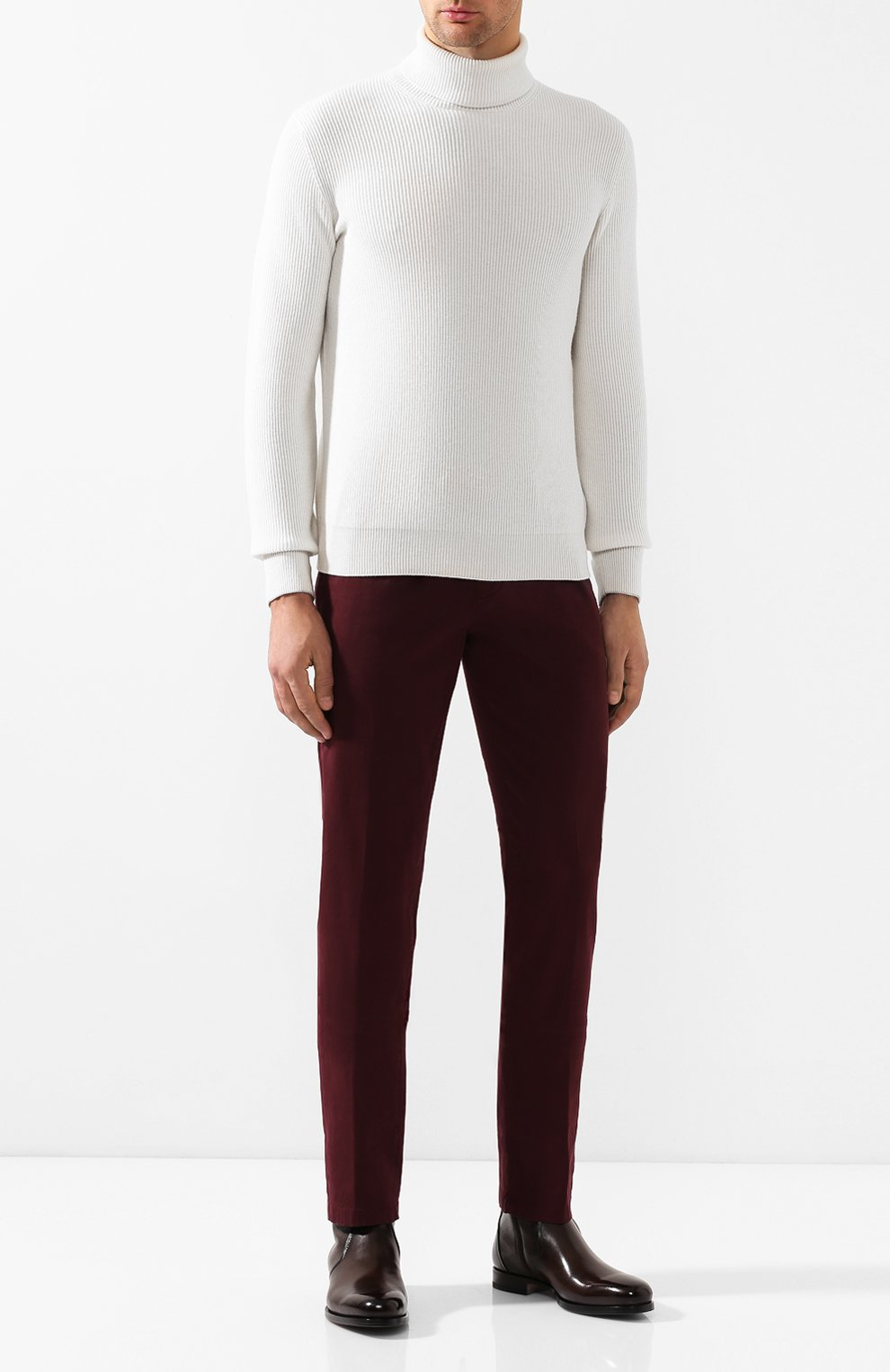 Мужские кожаные сапоги SANTONI темно-коричневого цвета, арт. MCAG16782BD1IDN0M56 | Фото 2