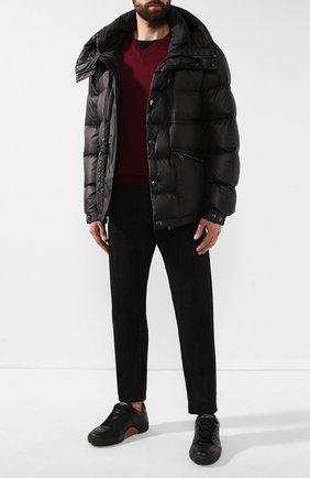 Мужской пуловер из смеси кашемира и шелка CRUCIANI бордового цвета, арт. CU487B.V03F6V   Фото 2