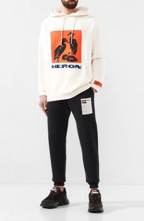 Мужской хлопковые джоггеры HERON PRESTON черного цвета, арт. HMCH005F198080090488 | Фото 2