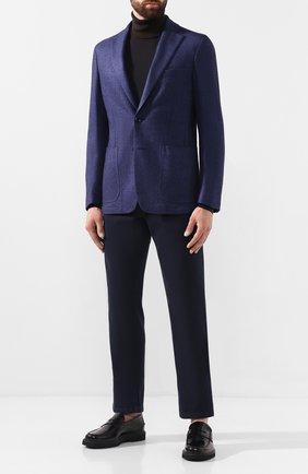 Мужской пиджак из смеси кашемира и шелка ZILLI синего цвета, арт. MNS-ECK1-2-B6628/0002   Фото 2