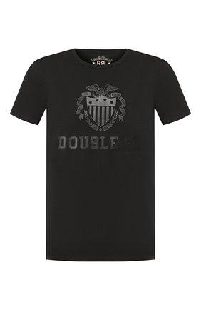 Мужская хлопковая футболка RRL черного цвета, арт. 782751201 | Фото 1