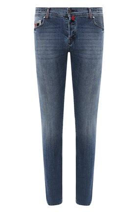 Мужские джинсы KITON голубого цвета, арт. UPNJS/J02S98 | Фото 1