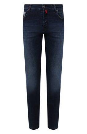 Мужские джинсы KITON синего цвета, арт. UPNJS/J02S98 | Фото 1