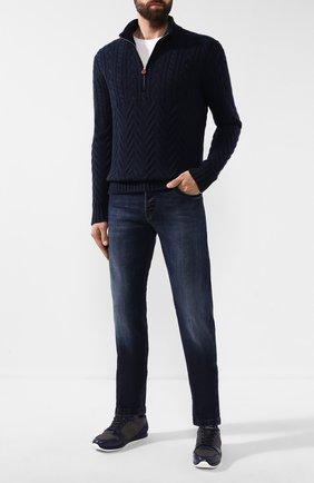 Мужские джинсы KITON синего цвета, арт. UPNJS/J02S98 | Фото 2