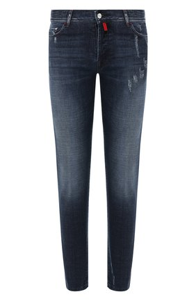 Мужские джинсы KITON темно-синего цвета, арт. UPNJSM/J03S85 | Фото 1