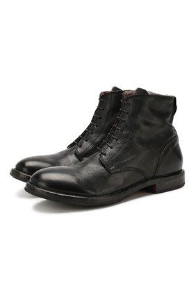 Мужские кожаные ботинки MOMA черного цвета, арт. 2CW022-CUM | Фото 1