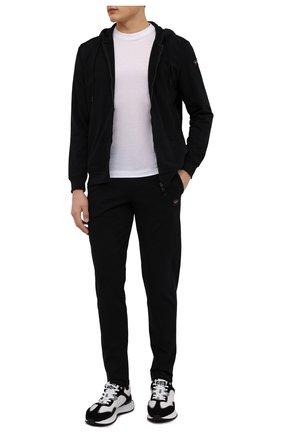 Мужской хлопковый спортивный костюм PAUL&SHARK черного цвета, арт. C0P1064 | Фото 1