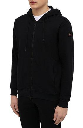 Мужской хлопковый спортивный костюм PAUL&SHARK черного цвета, арт. C0P1064 | Фото 2
