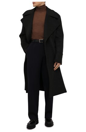 Мужской водолазка из шерсти и шелка GRAN SASSO светло-коричневого цвета, арт. 57131/13190 | Фото 2 (Длина (для топов): Стандартные; Материал внешний: Шелк, Шерсть; Принт: Без принта; Мужское Кросс-КТ: Водолазка-одежда; Рукава: Длинные; Статус проверки: Проверена категория)