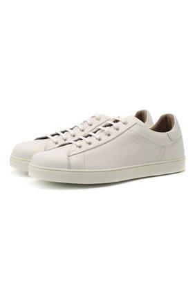 Мужские кожаные кеды GIANVITO ROSSI белого цвета, арт. S26340.M1WHT.B0XBIAN | Фото 1