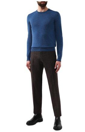 Мужской шерстяной джемпер CANALI синего цвета, арт. C0012/MK00077 | Фото 2