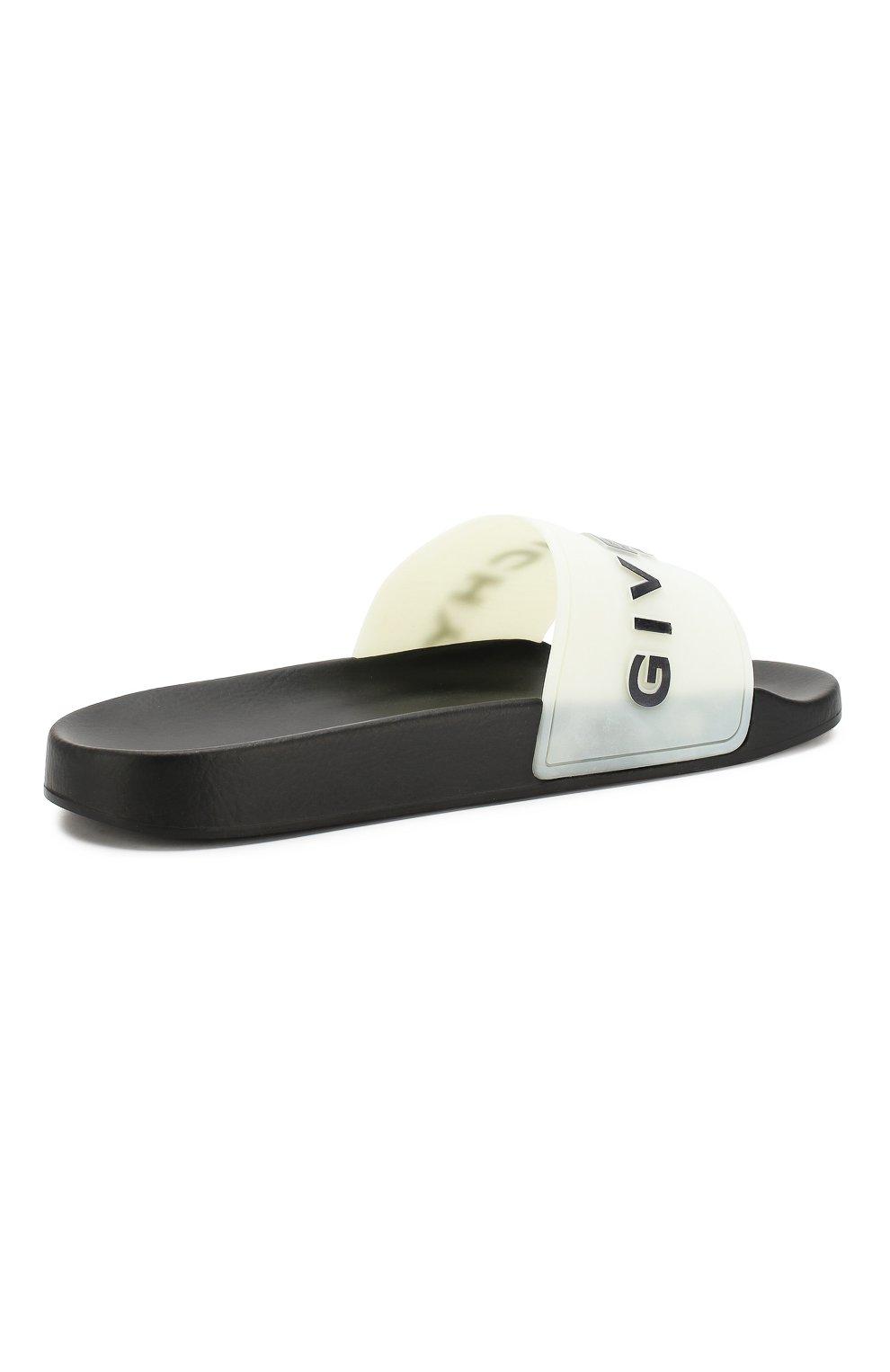 Шлепанцы Givenchy черно-белые | Фото №4