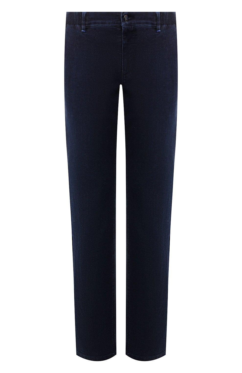 Мужские джинсы ZILLI темно-синего цвета, арт. MCS-00016-DEJA1/R001   Фото 1