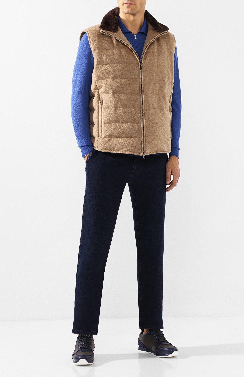 Мужские джинсы ZILLI темно-синего цвета, арт. MCS-00016-DEJA1/R001   Фото 2