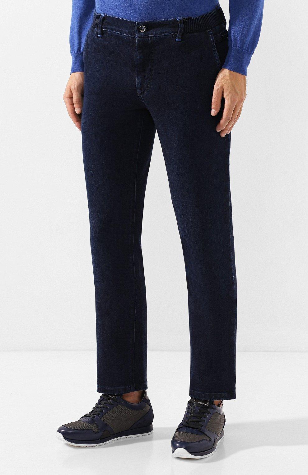 Мужские джинсы ZILLI темно-синего цвета, арт. MCS-00016-DEJA1/R001   Фото 3