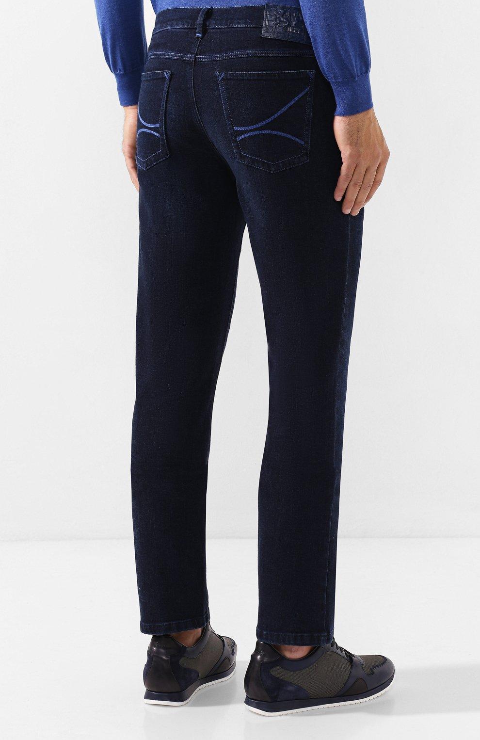 Мужские джинсы ZILLI темно-синего цвета, арт. MCS-00016-DEJA1/R001   Фото 4