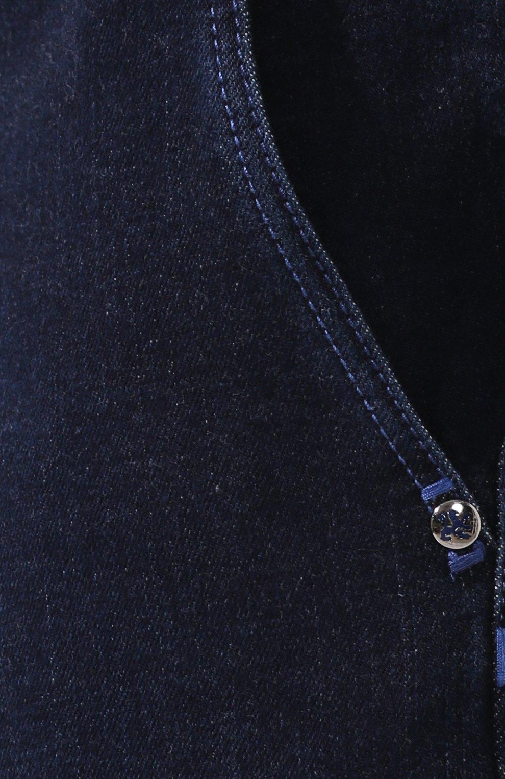 Мужские джинсы ZILLI темно-синего цвета, арт. MCS-00016-DEJA1/R001   Фото 5