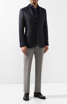 Мужская хлопковая сорочка RALPH LAUREN темно-синего цвета, арт. 790758600 | Фото 2