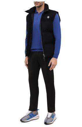 Мужское поло из кашемира и шелка KITON синего цвета, арт. UK05Z | Фото 2