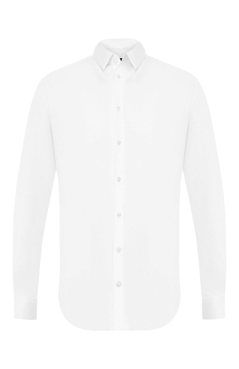 Мужская хлопковая сорочка GIORGIO ARMANI белого цвета, арт. 8WGCCZ97/JZ070   Фото 1