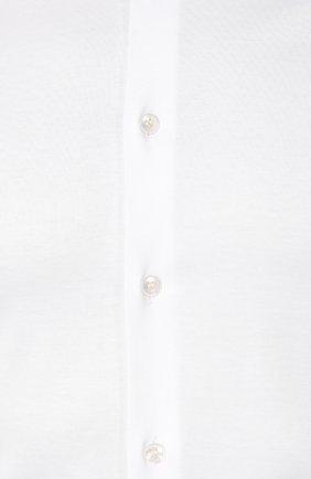 Мужская хлопковая сорочка GIORGIO ARMANI белого цвета, арт. 8WGCCZ97/JZ070   Фото 5