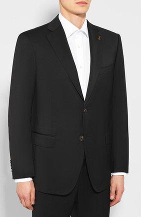 Мужской шерстяной костюм PAL ZILERI черного цвета, арт. P33XV22L2--B1027 | Фото 2