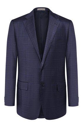 Мужской шерстяной пиджак CORNELIANI темно-синего цвета, арт. 846313-9816278/90 Q1   Фото 1