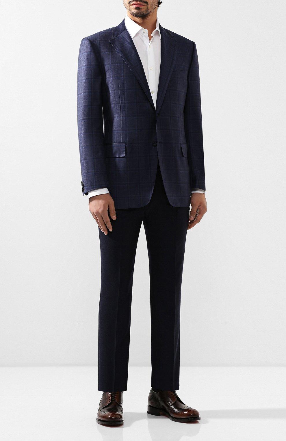 Мужской шерстяной пиджак CORNELIANI темно-синего цвета, арт. 846313-9816278/90 Q1   Фото 2