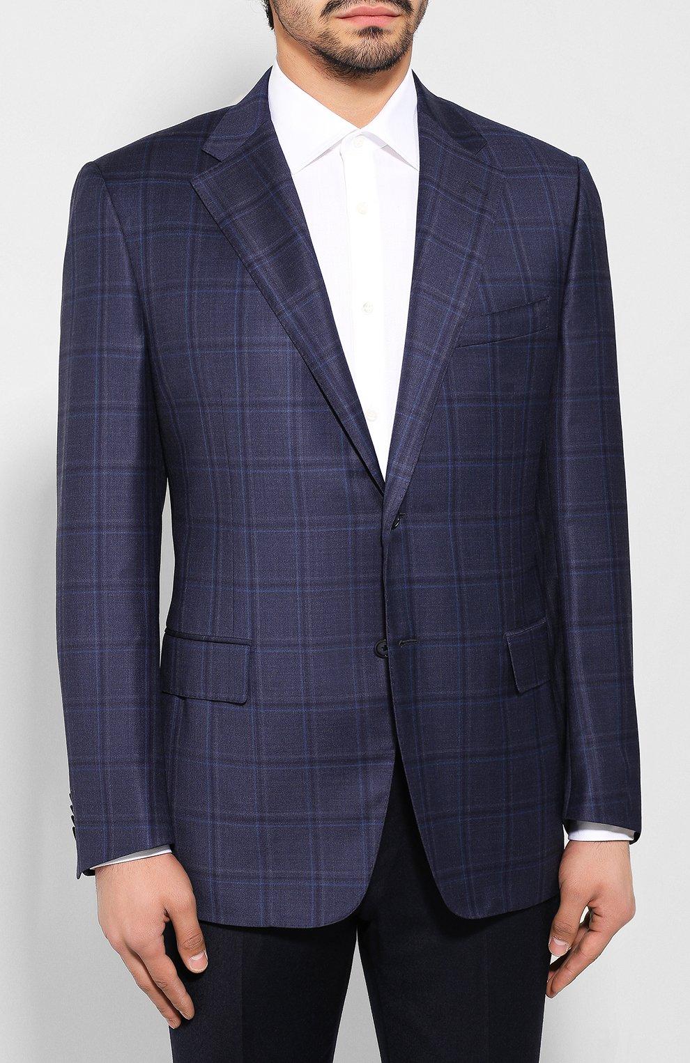 Мужской шерстяной пиджак CORNELIANI темно-синего цвета, арт. 846313-9816278/90 Q1   Фото 3