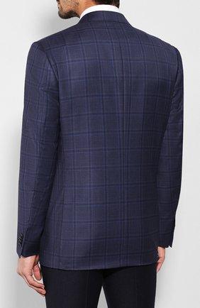 Мужской шерстяной пиджак CORNELIANI темно-синего цвета, арт. 846313-9816278/90 Q1   Фото 4