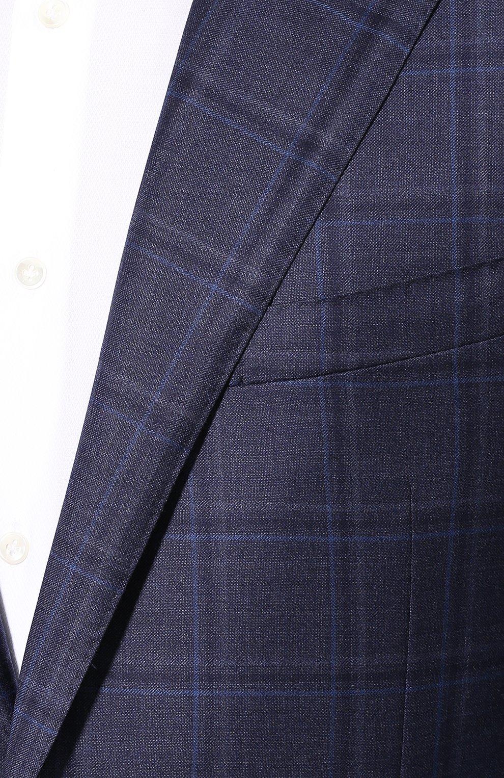 Мужской шерстяной пиджак CORNELIANI темно-синего цвета, арт. 846313-9816278/90 Q1   Фото 5