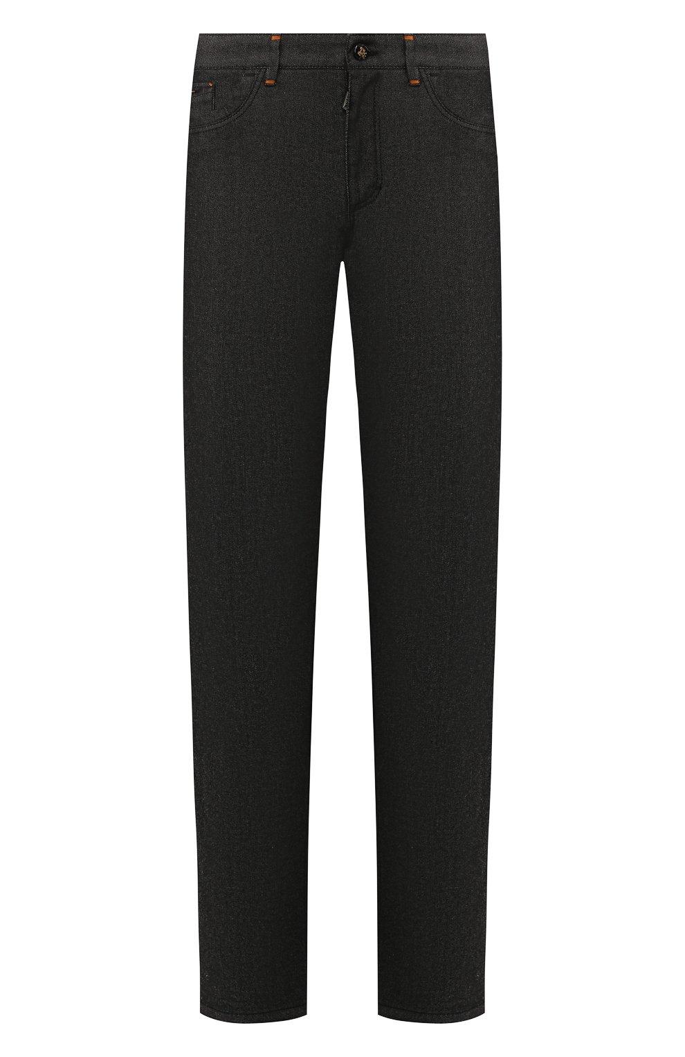Мужские джинсы ZILLI черного цвета, арт. MCS-00042-LKNC1/S001/AMIS | Фото 1 (Силуэт М (брюки): Прямые; Длина (брюки, джинсы): Стандартные; Материал внешний: Хлопок, Деним; Статус проверки: Проверено)
