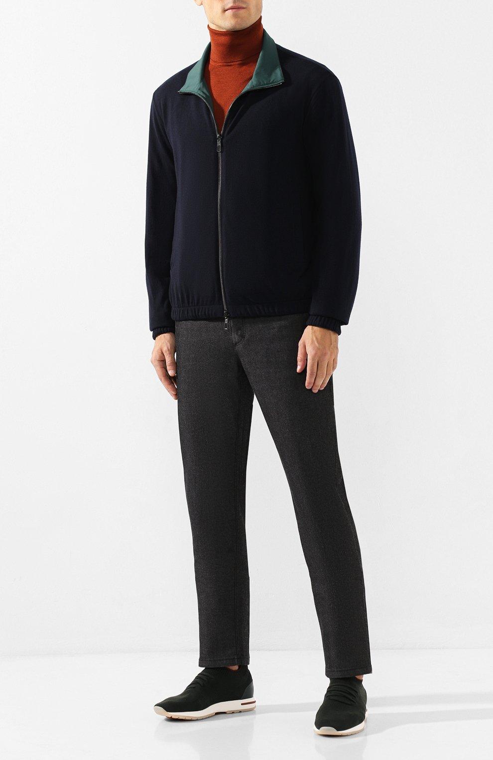 Мужские джинсы ZILLI черного цвета, арт. MCS-00042-LKNC1/S001/AMIS | Фото 2 (Силуэт М (брюки): Прямые; Длина (брюки, джинсы): Стандартные; Материал внешний: Хлопок, Деним; Статус проверки: Проверено)