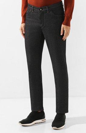 Мужские джинсы ZILLI черного цвета, арт. MCS-00042-LKNC1/S001/AMIS | Фото 3 (Силуэт М (брюки): Прямые; Длина (брюки, джинсы): Стандартные; Материал внешний: Хлопок, Деним; Статус проверки: Проверено)