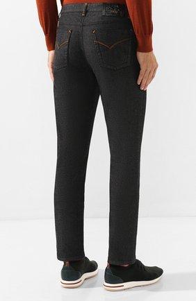 Мужские джинсы ZILLI черного цвета, арт. MCS-00042-LKNC1/S001/AMIS | Фото 4 (Силуэт М (брюки): Прямые; Длина (брюки, джинсы): Стандартные; Материал внешний: Хлопок, Деним; Статус проверки: Проверено)