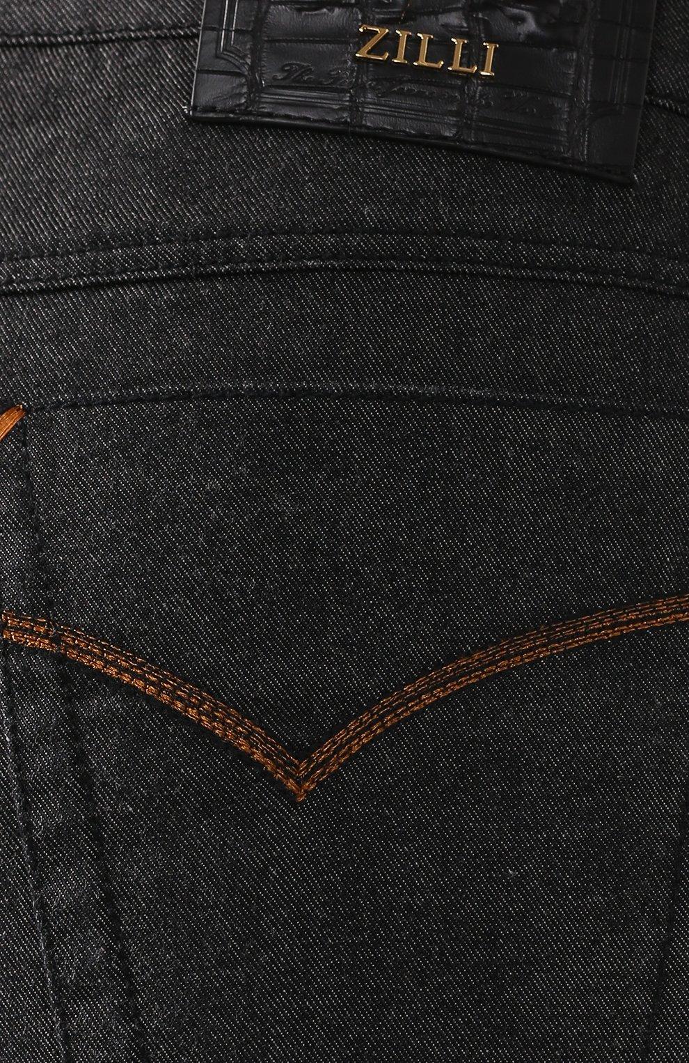 Мужские джинсы ZILLI черного цвета, арт. MCS-00042-LKNC1/S001/AMIS | Фото 5 (Силуэт М (брюки): Прямые; Длина (брюки, джинсы): Стандартные; Материал внешний: Хлопок, Деним; Статус проверки: Проверено)