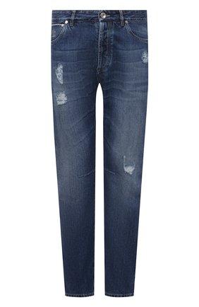 Мужские джинсы BRUNELLO CUCINELLI темно-синего цвета, арт. ME228X2350 | Фото 1