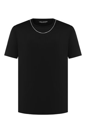 Мужская хлопковая футболка NEIL BARRETT черного цвета, арт. BJT627E/M581S | Фото 1