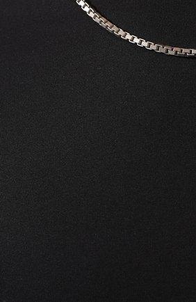 Мужская хлопковая футболка NEIL BARRETT черного цвета, арт. BJT627E/M581S | Фото 5