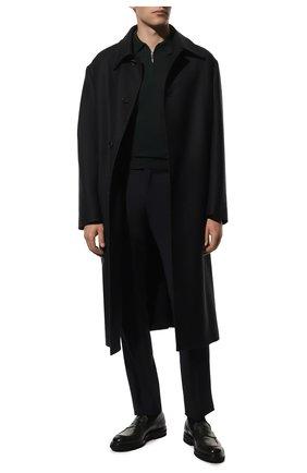 Мужское шерстяное поло GRAN SASSO темно-зеленого цвета, арт. 55125/14290 | Фото 2