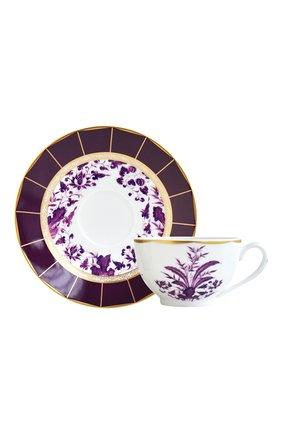 Мужская чайная чашка с блюдцем prunus  BERNARDAUD фиолетового цвета, арт. 1831/3095 | Фото 1