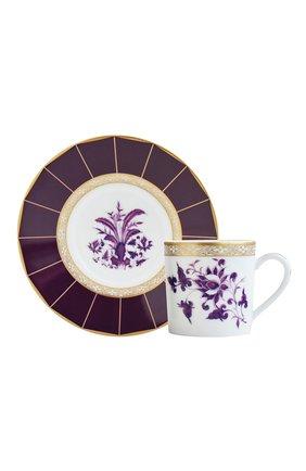 Мужская кофейная чашка с блюдцем prunus BERNARDAUD фиолетового цвета, арт. 1831/79 | Фото 1