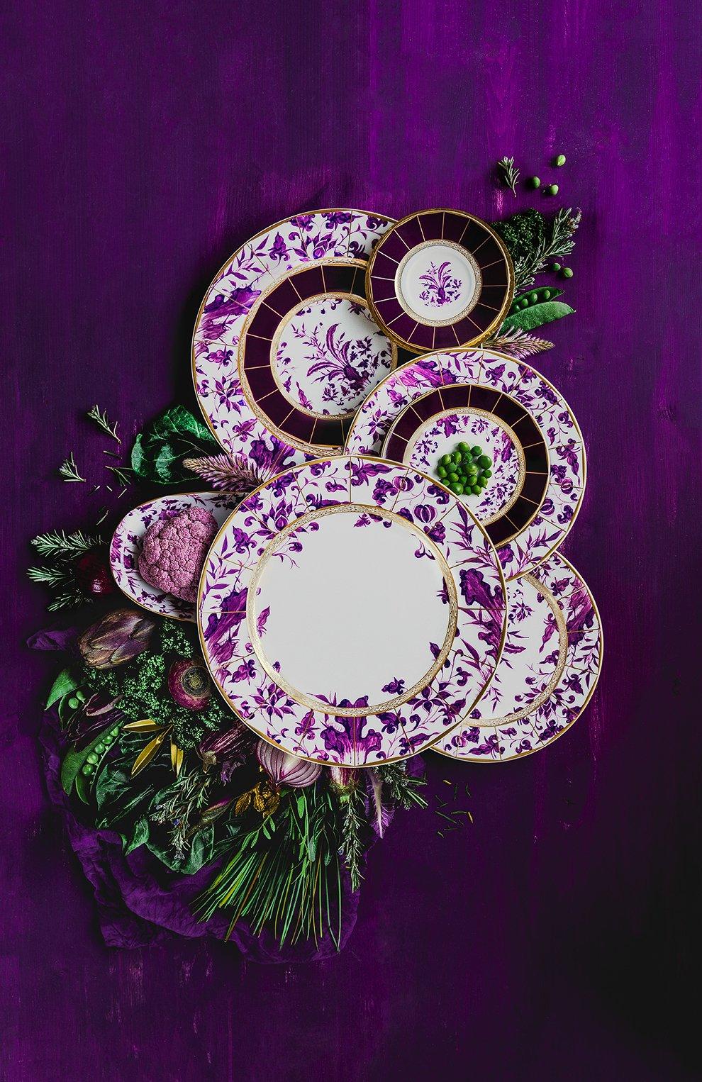 Мужского кофейная чашка с блюдцем prunus BERNARDAUD фиолетового цвета, арт. 1831/79 | Фото 2