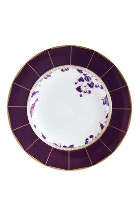 Мужского суповая тарелка prunus BERNARDAUD фиолетового цвета, арт. 1831/21461 | Фото 1