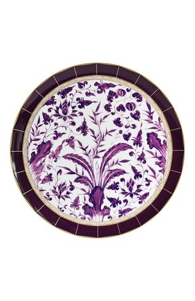 Мужского блюдо для торта prunus BERNARDAUD фиолетового цвета, арт. 1831/21267 | Фото 1