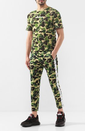 Мужская хлопковая футболка BAPE зеленого цвета, арт. 1F80109007 | Фото 2