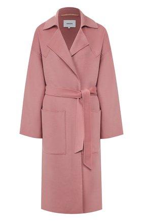 Пальто из смеси шерсти и шелка   Фото №1