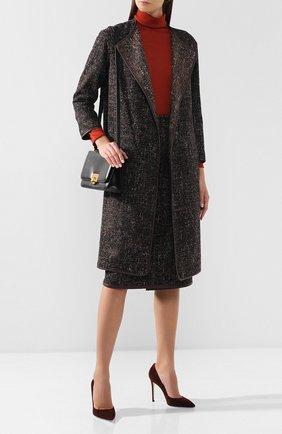 Женское шерстяное пальто KITON коричневого цвета, арт. D48631K04S25   Фото 2