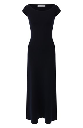 Женское платье из смеси шерсти и кашемира GABRIELA HEARST темно-синего цвета, арт. 419901 A004 | Фото 1